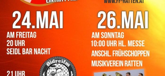 Feuerwehrfest 24. u. 26. Mai